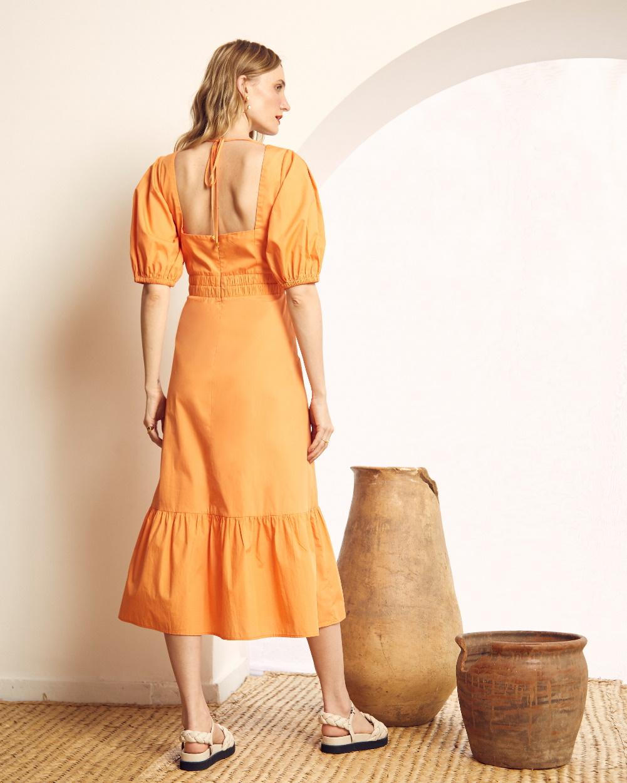Vestido Tricoline Detalhe Elástico