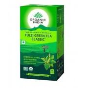 Chá Tulsi Green Tea, Chá Verde, 25 Sachês, Organic India