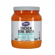 Chicken Bone Broth Caldo de Osso de Galinha em Pó NOW Sports 544 g