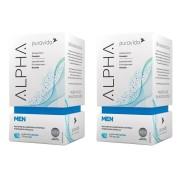 Kit 2 Alpha Men Puravida Polivitamínico Premium 60caps