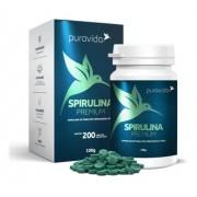 Spirulina Premium Puravida 200 Tabletes, Pura Vida