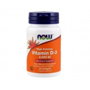Vitamina D-3 2,000 Ui - 1,5 mg (30 Cápsulas) Now Foods