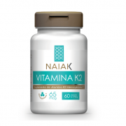 Vitamina K2 - Mk-7 - 60 Cáps - 65mcg - Naiak