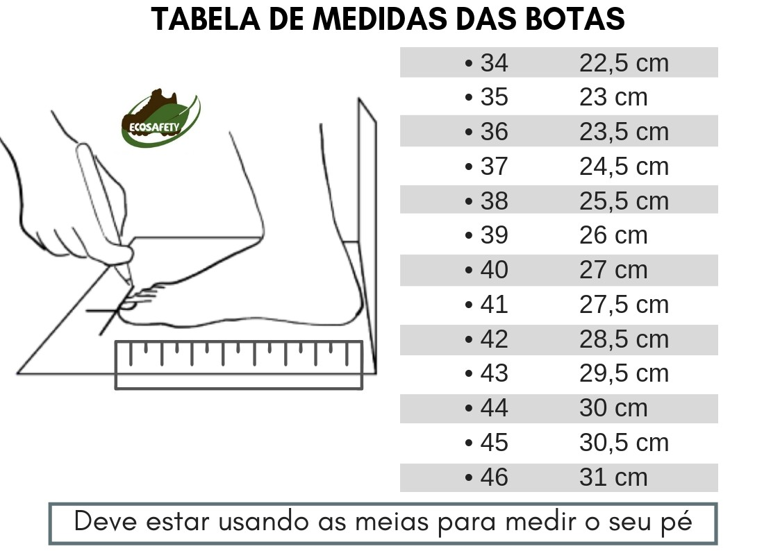 BOTINA BOTA DE SEGURANÇA EM COURO LATEGO PRETO ECOSAFETY PS410 BICO PVC