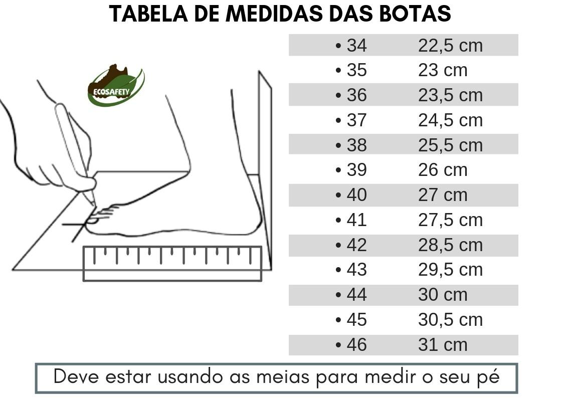 BOTINA BOTA DE SEGURANÇA EM COURO NOBUCK CAFÉ ECOSAFETY PS139 BICO PVC