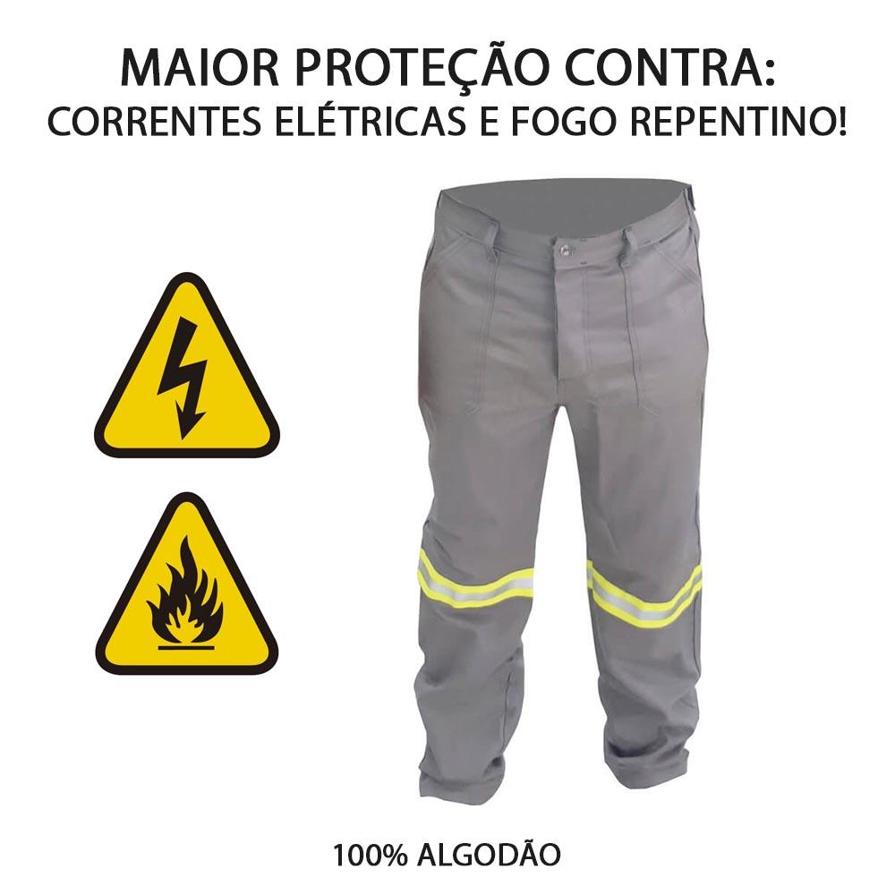 CALÇA ANTICHAMAS NR10 CINZA