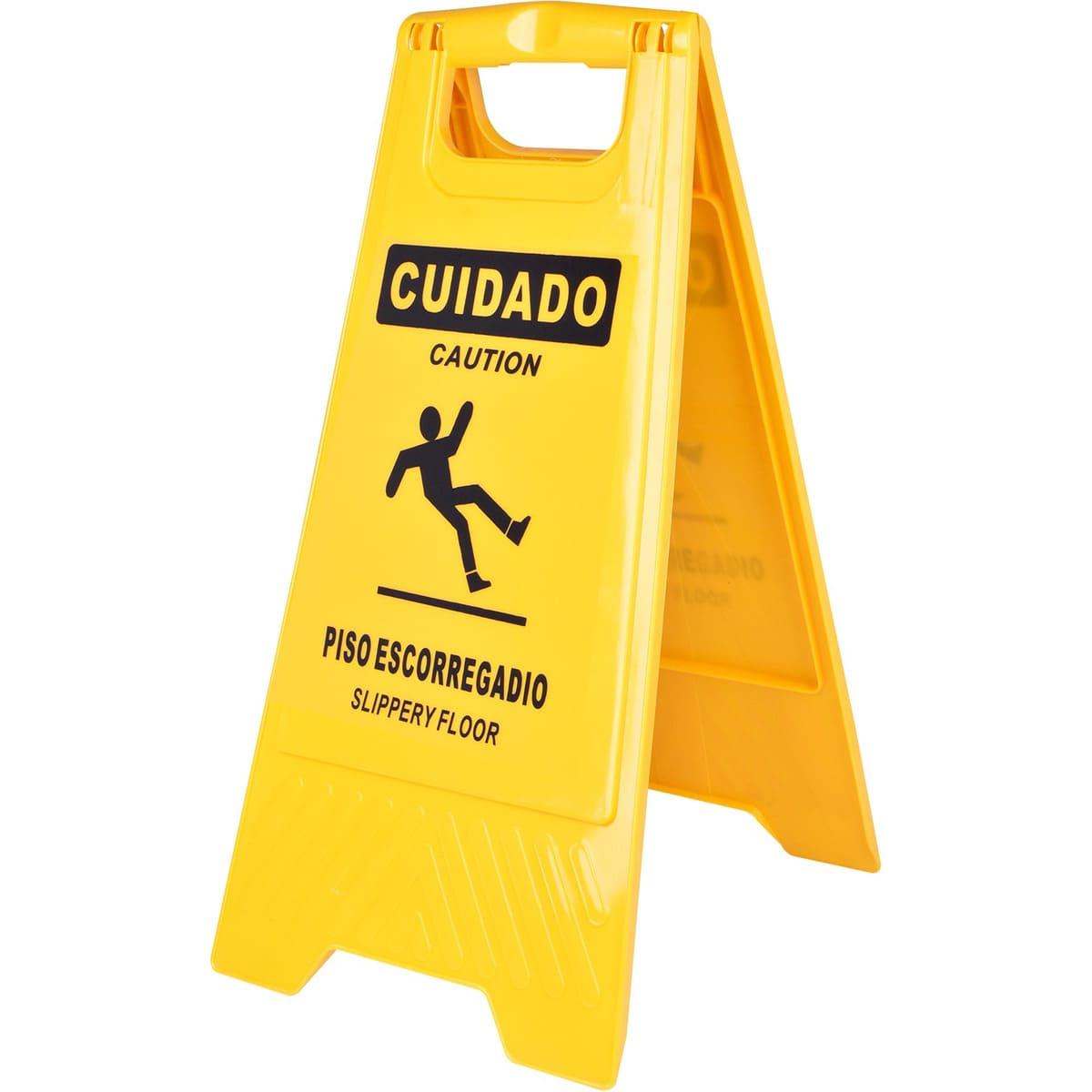 CAVALETE DE SINALIZAÇÃO PISO ESCORREGADIO PLASTCOR