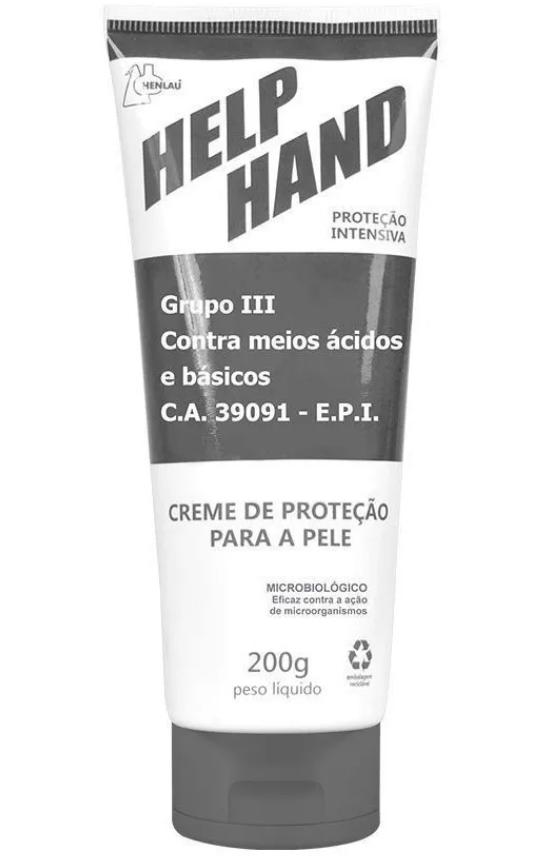 CREME DE PROTECAO HELP HAND EXTREME GRUPO 3 HENLAU 200G