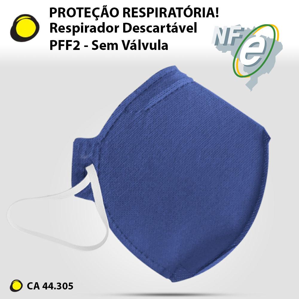 RESPIRADOR DESCARTAVEL PFF2 SEM VALVULA  ALLTEC 10 UNIDADES