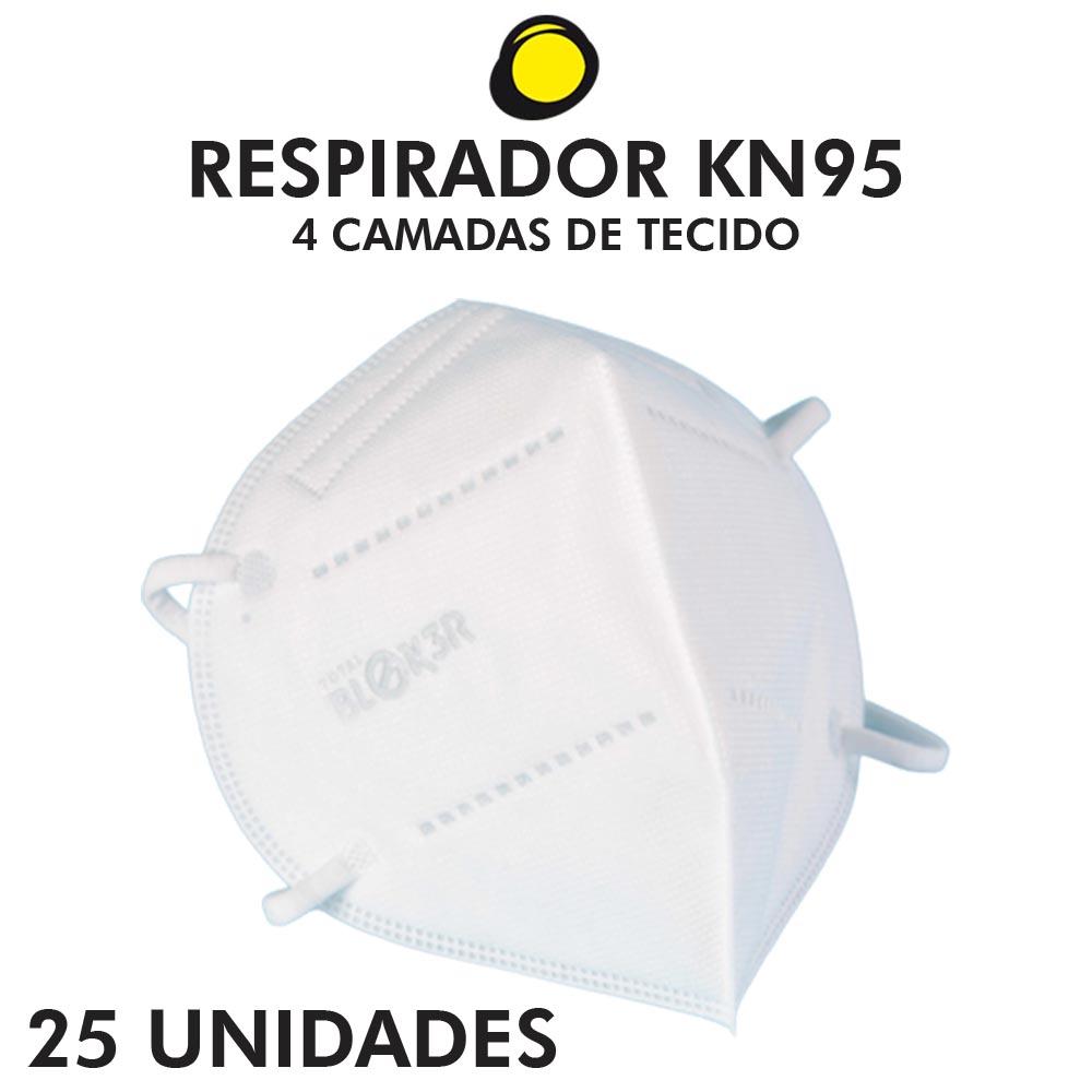 RESPIRADOR N95 BRANCA TOTAL BLOKER - 25 UNIDADES