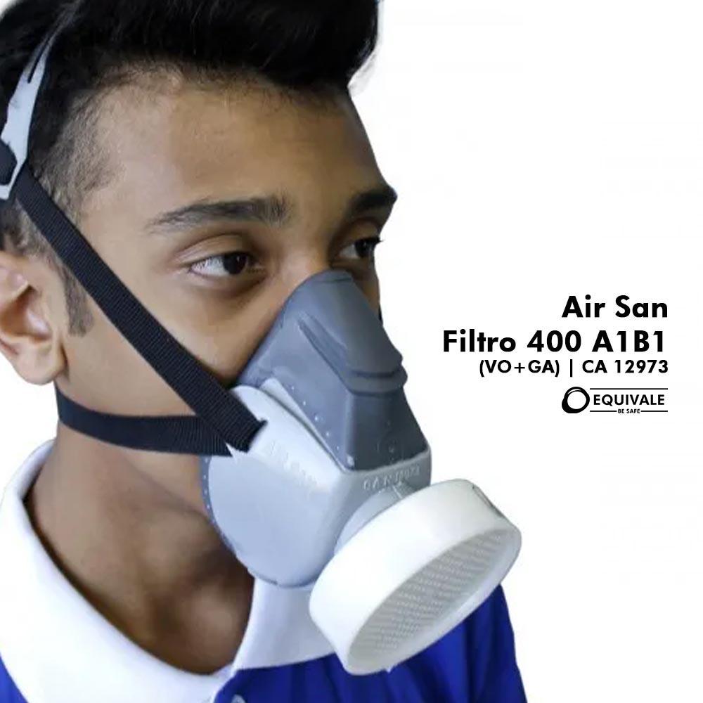 RESPIRADOR SEMIFACIAL COM FILTRO AIR SAN + FILTRO 400 A1B1