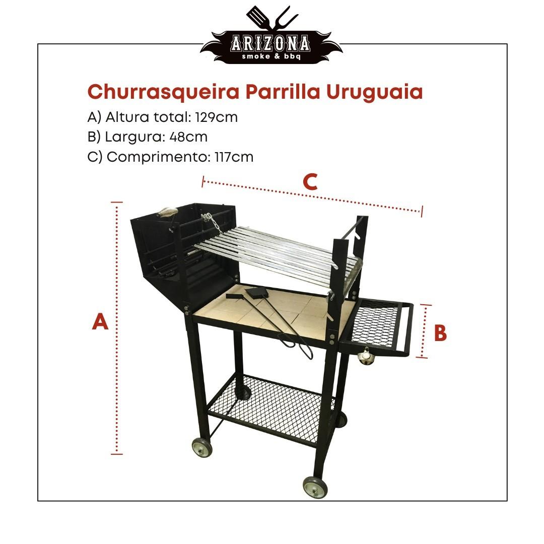 Churrasqueira Parrilla Uruguaia - Grelha Inox