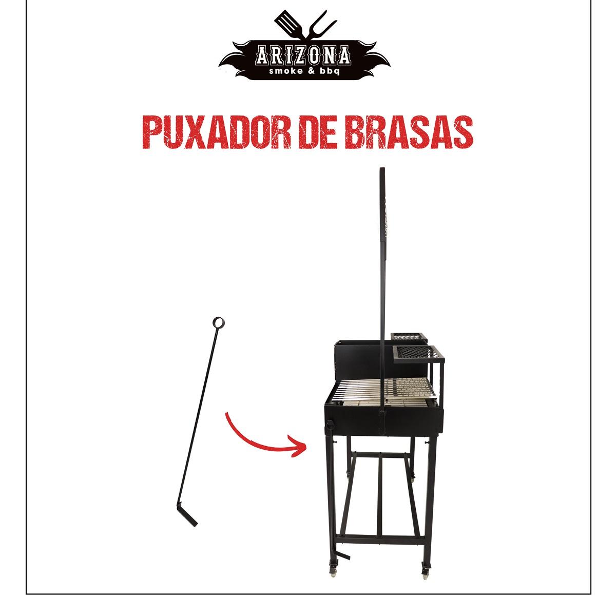 Parrilla Versatile Grelha Dupla (Argentina + Uruguaia) com Varal - Arizona Smoke & BBQ