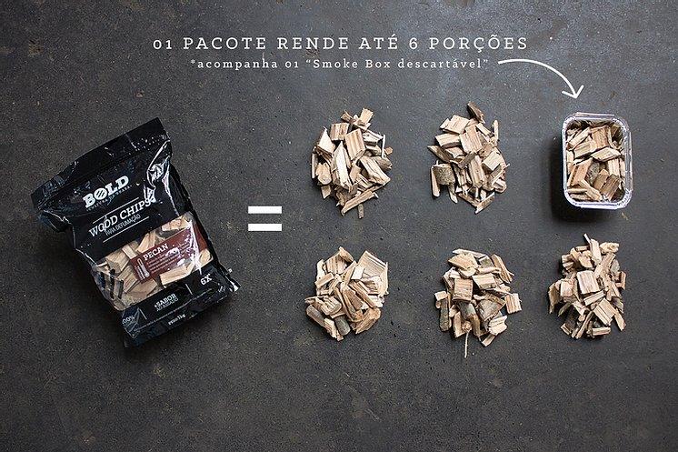 """Wood Chips - Lascas de Lenha """"Mix Parrillero"""" para Defumação 1kg"""
