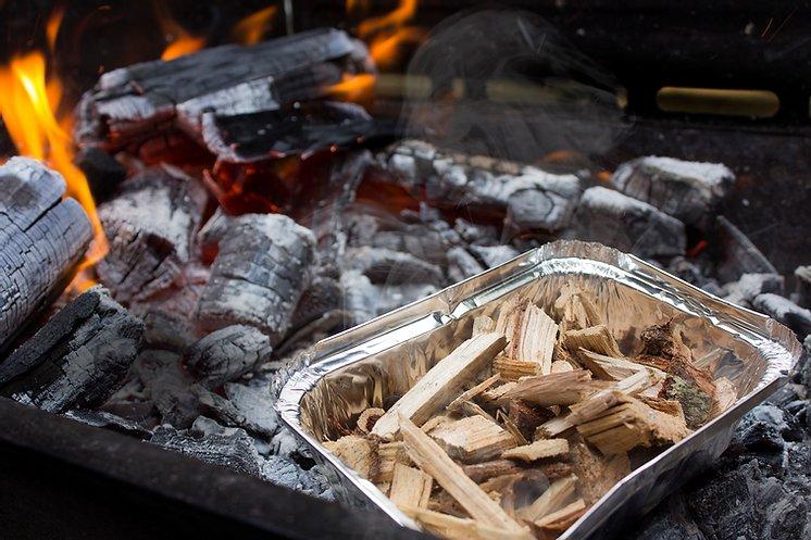 Wood Chips - Lascas de Pecan para Defumação 1kg