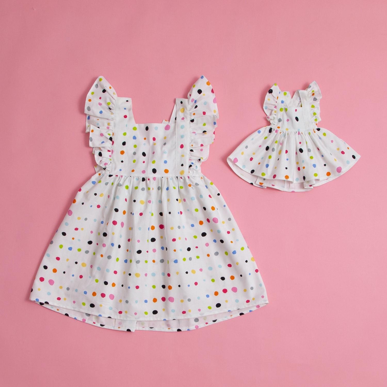 Vestidos Polka Dot - Criança & Boneca