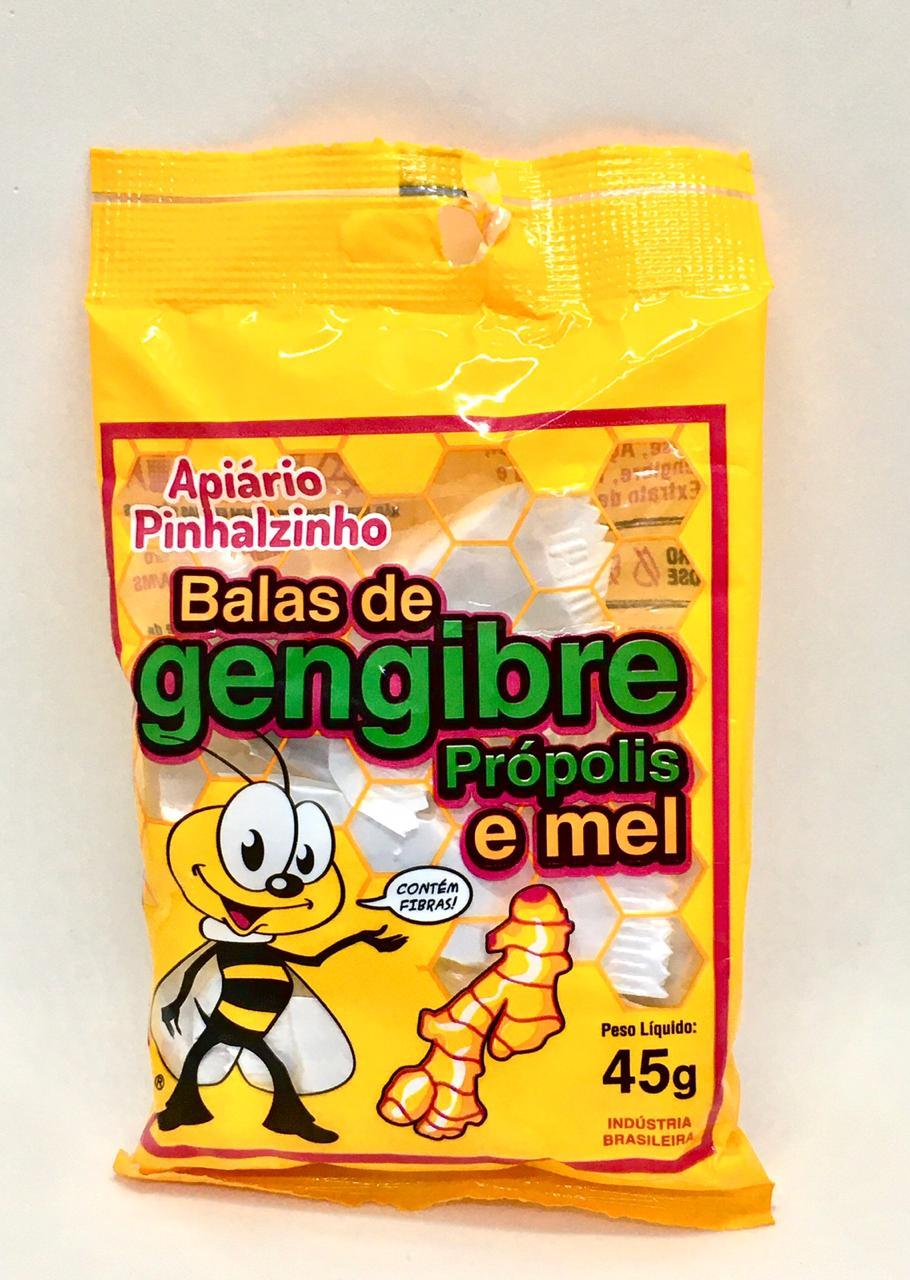 Bala de Gengibre, Própolis e Mel  - Casa do Mel