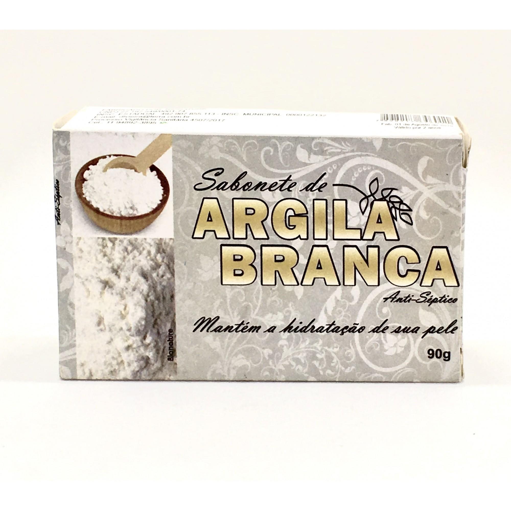 Sabonete Argila Branca  - Casa do Mel