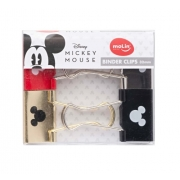 Binder Clip Mickey 32MM Cx c/ 04 Unid. - Molin