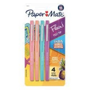 BLISTER C/4 CANETAS PAPERMATE FLAIR M TROPICAL VACATION