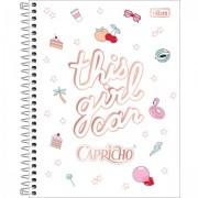 Caderno Colegial Capricho 10 matérias - Tilibra
