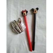Caneta em gel Minnie ou Mickey