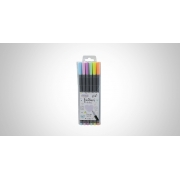 Caneta Fine Liner 0.4MM Cor Pastel Blister c/ 06 Unid. - BRW