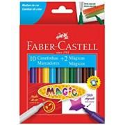 Canetinhas Marcadores - 10 un + 2 Mágicas - Faber-Castell