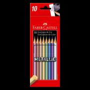 Ecolápis Cor Metallic - 10un - Faber-Castell