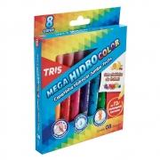 Hidrocor Jumbo Mega Fruits - 08 un - Tris