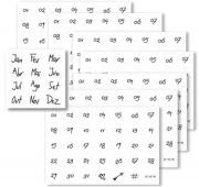 Kit 12 Cartelas Numéricas - Evertop