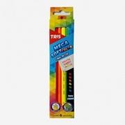Lápis de Cor Megasoft Neon - 06 un - Tris