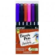 Brush Pen Cores Básicas - 06 un - Newpen