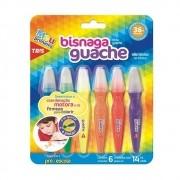 Tinta Guache Bisnaga - 6 un - Tris