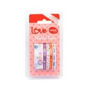 Washi Tape Love Blister com 5 unidades - Molin