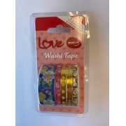 Washi Tape Love Molin 2 - Blister com 5 unidades