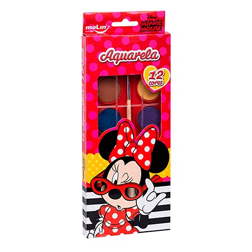 Aquarela Minnie - 12 cores - Molin
