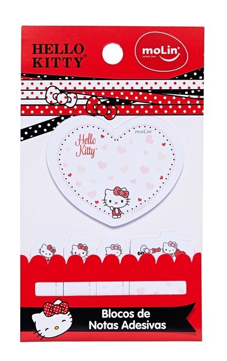 Bloco de Notas Adesivas Hello Kitty - Molin