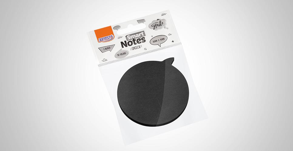 Bloco Smart Notes 70x70mm Balão Speech Preto - BRW