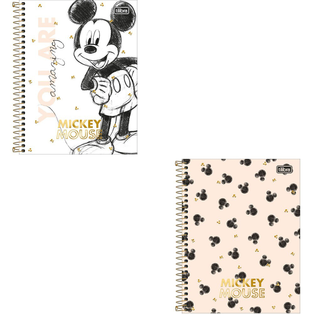 Caderno Colegial Mickey 10 matérias - Tilibra