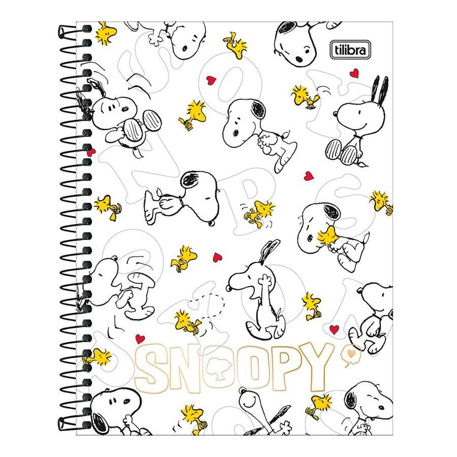 Caderno Colegial Snoopy 10 matérias - Tilibra