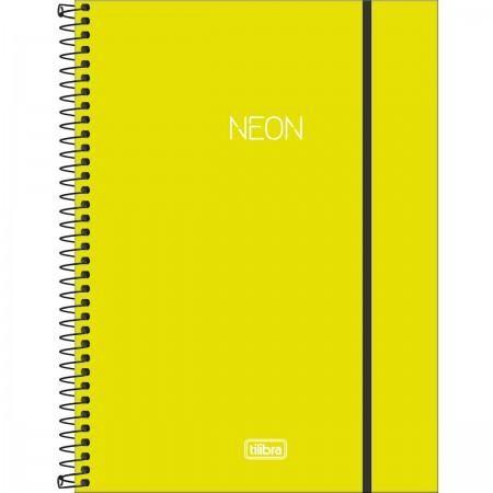 Caderno Espiral Universitário Neon Verde Limão - Tilibra