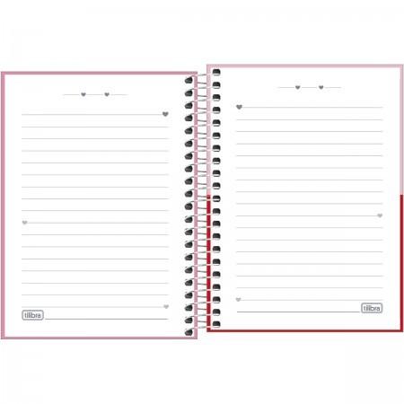 Caderno Love Pink - 01 matéria - Tilibra