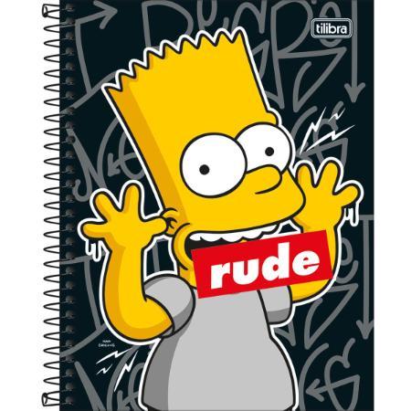 Caderno Colegial Simpsons 10 Matérias - Tilibra