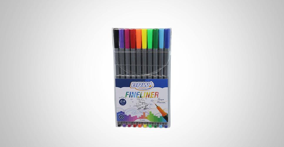 Caneta Fine Liner 0.4MM Blister c/ 10 Unid. - BRW