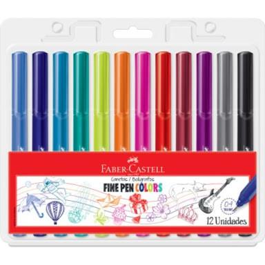 Caneta Fine Pen Colors - 12un - Faber-Castell