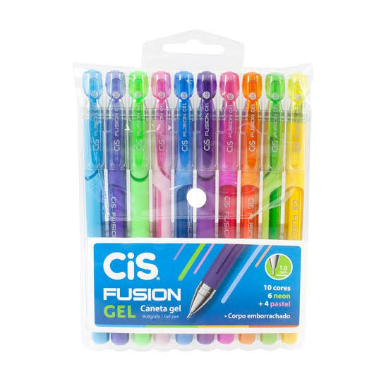 Caneta Gel 1.0 Fusion - 10 un - CIS