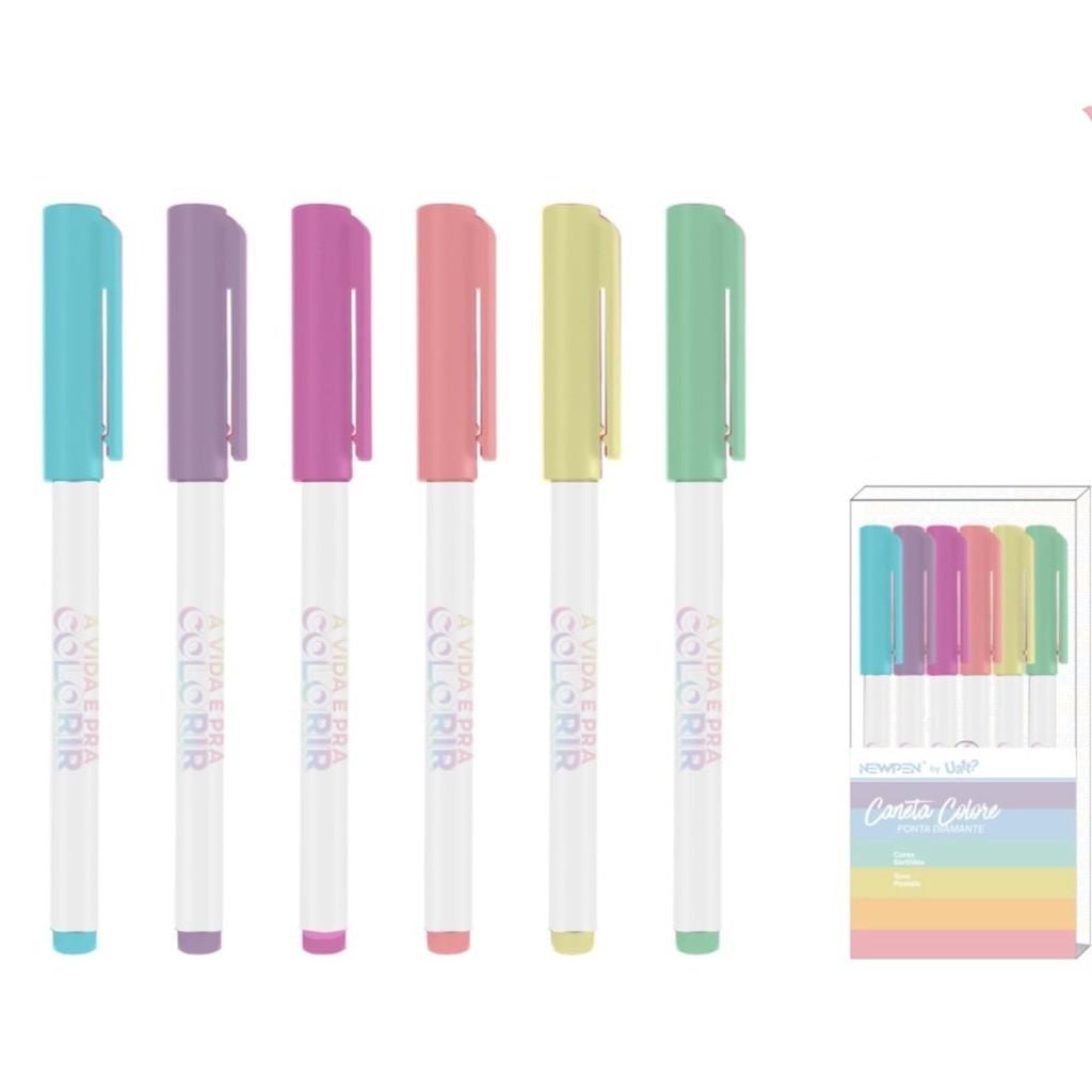 Canetinha Colore Pastel By Uatt? Colorir - 06 un - Newpen