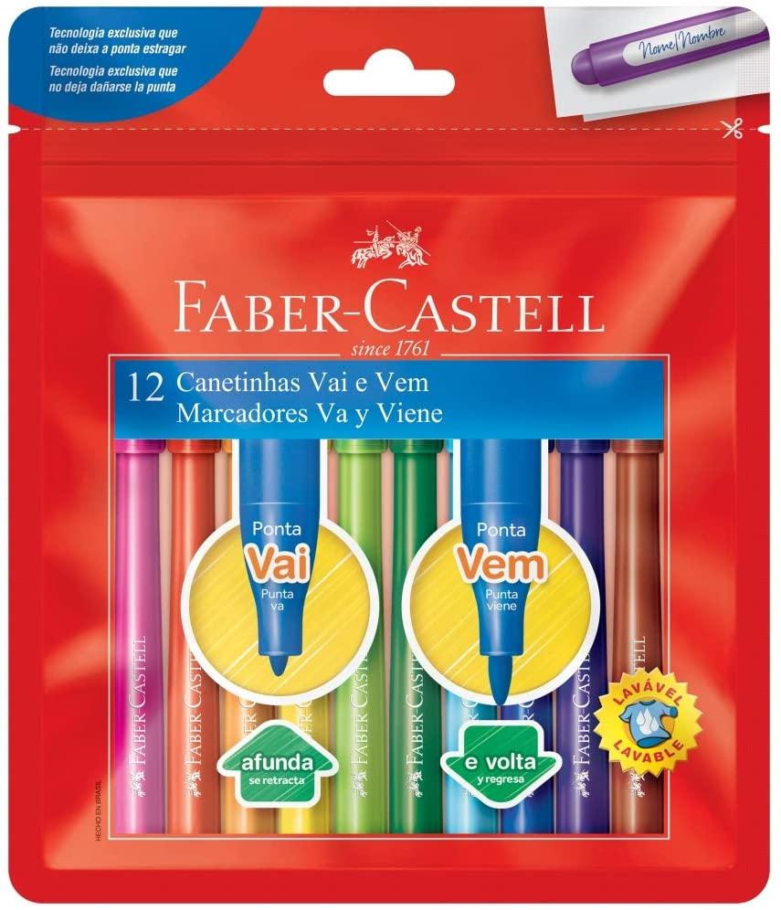 Canetinha Vai e Vem - 12 un - Faber-Castell
