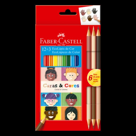 EcoLápis 12 + 3 Caras E Cores - Faber-Castell